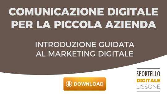 Scarica gratis l'ebook Comunicazione Digitale per la piccola azienda