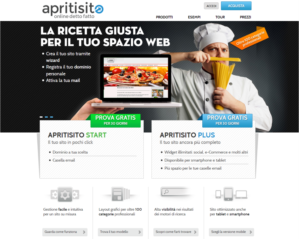 Apritisito , progetto sito - Alberto Pozzi Web Manager