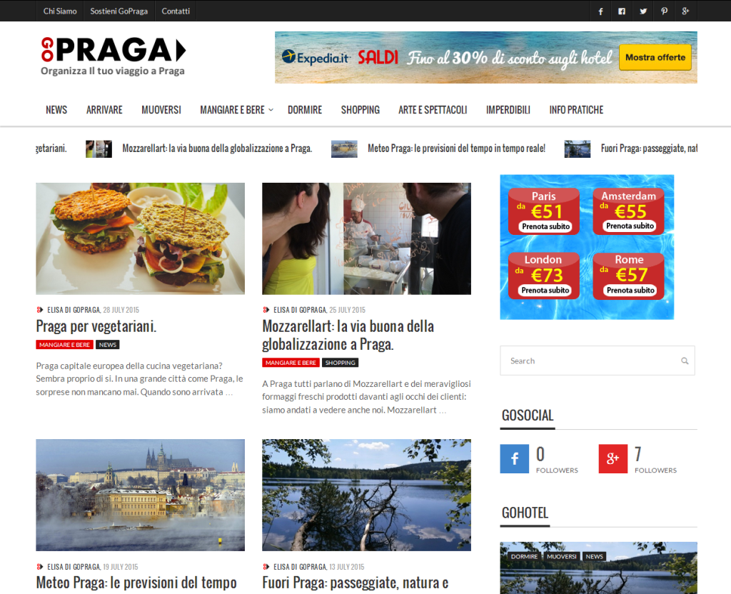 GoPraga - progetto - Alberto Pozzi - Web Manager