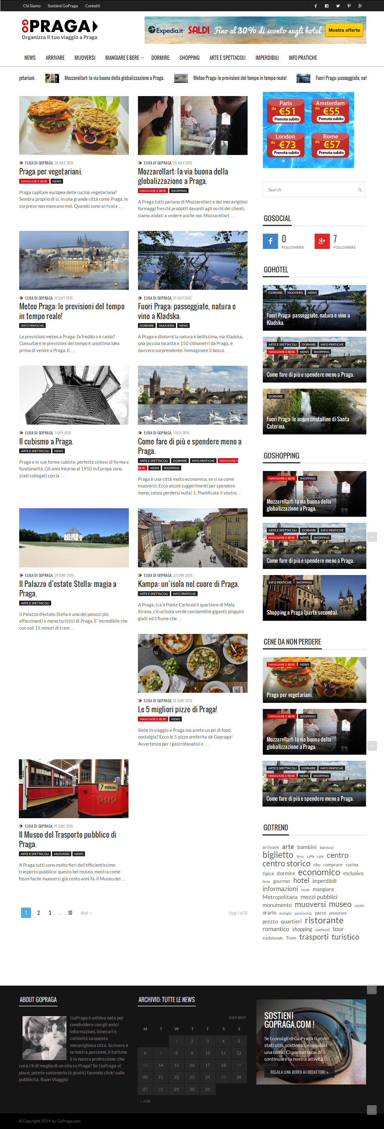 GoPraga - Homepage - Alberto Pozzi - Web Manager
