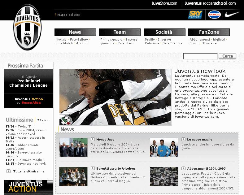 Juventus F.C. – Sito ufficiale