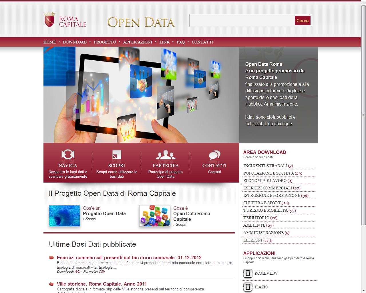 Open Data Roma Capitale - progetto - Alberto Pozzi , Web Manager