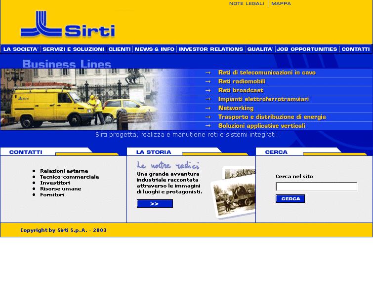 Sirti – nuovo sito