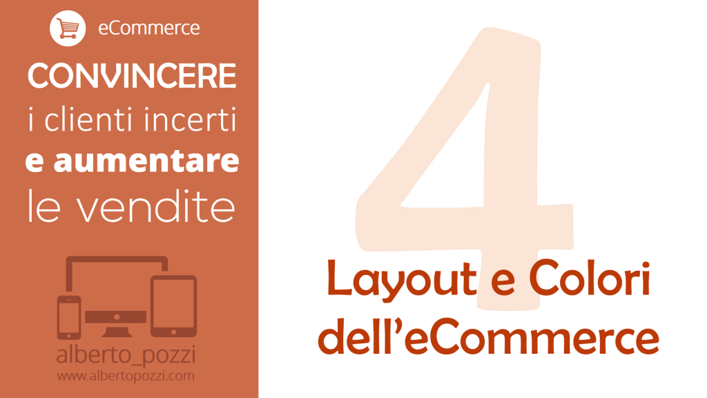 Layout e colori dell'ecommerce - Alberto Pozzi web manager