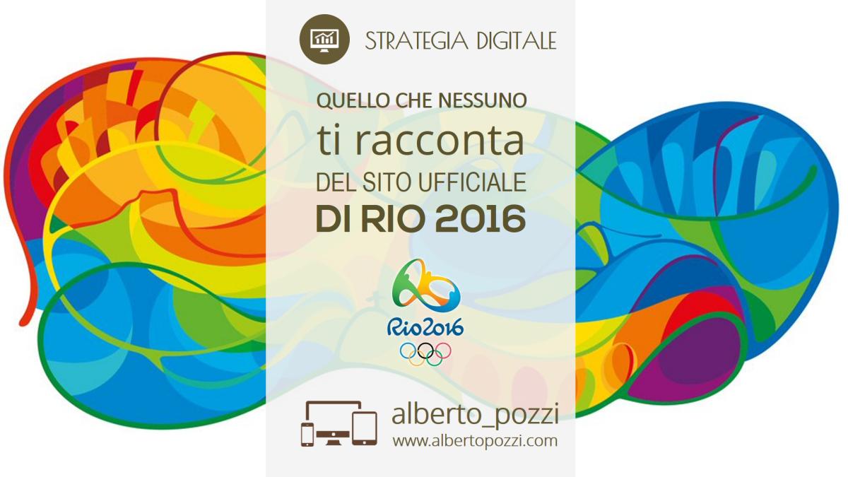Quello che nessuno ti dice sul sito delle Olimpiadi di Rio2016