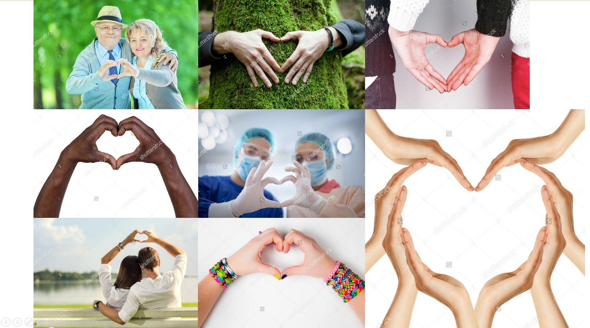 Touch is love - hands heart - Alberto Pozzi
