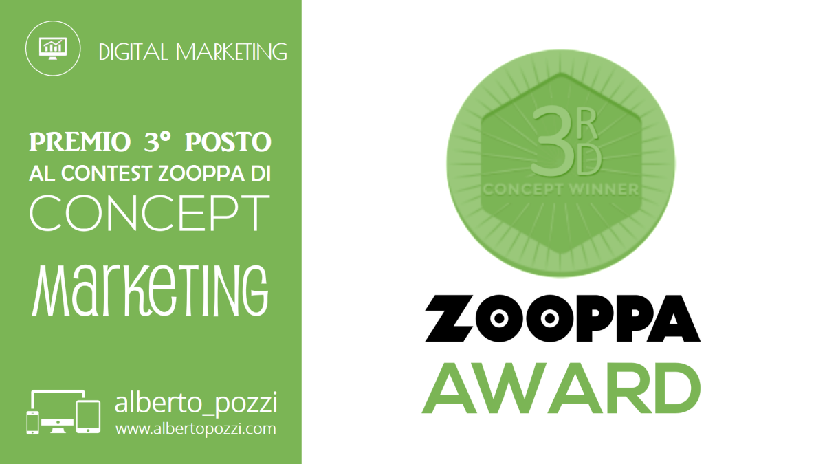 "Vittoria premio Zooppa di concept marketing ""Don't be afraid to touch"""