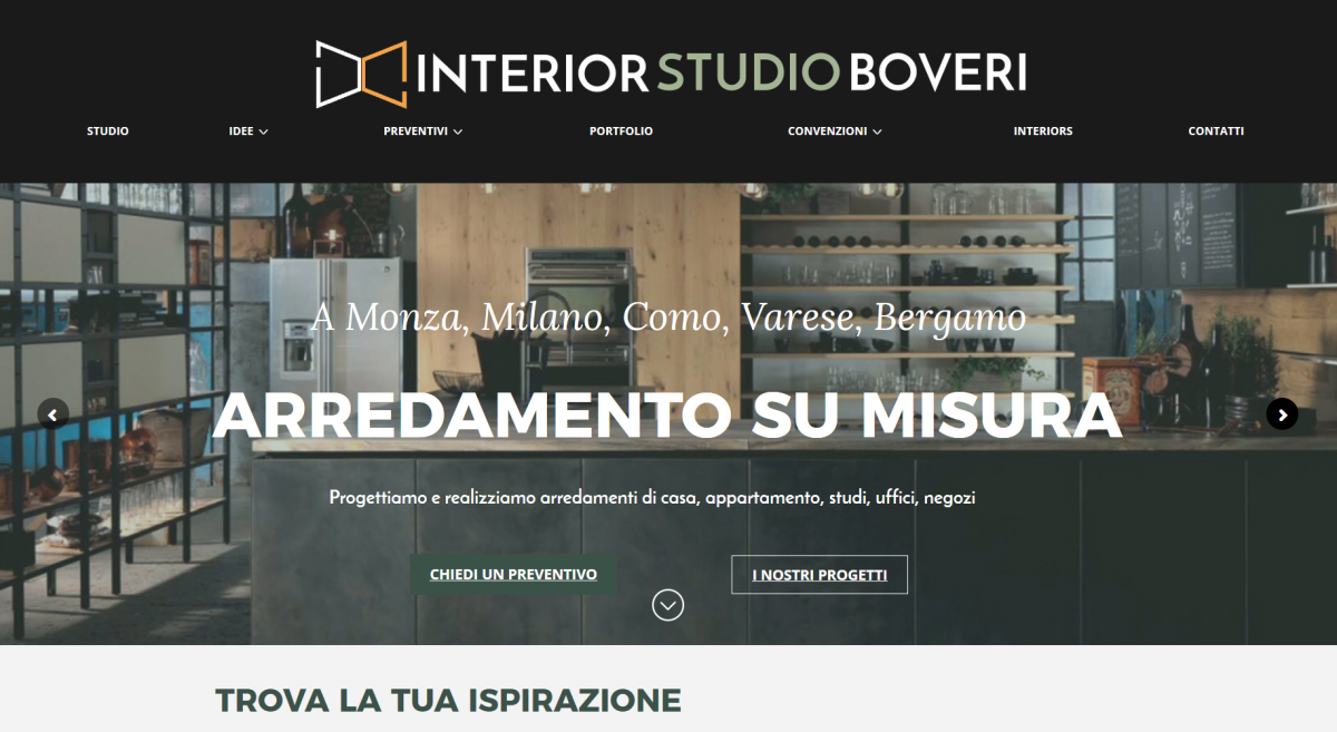 INTERIOR STUDIO BOVERI – logo, strategia digitale, contenuti, sito, blog, SEO