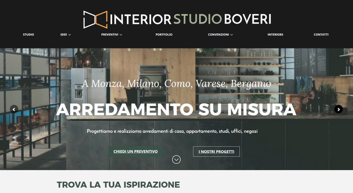 INTERIOR STUDIO BOVERI – logo, strategia digitale, contenuti, sito, blog, SEO