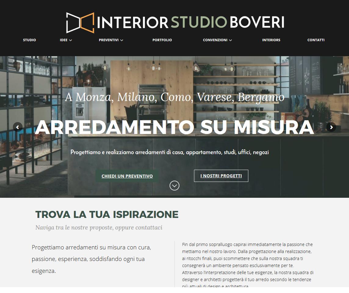 Interior studio Boveri , Como - progetto Alberto Pozzi - web manager