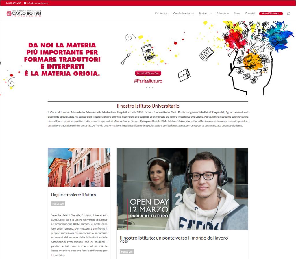 SSML Carlo Bo - progetto Alberto Pozzi - web manager