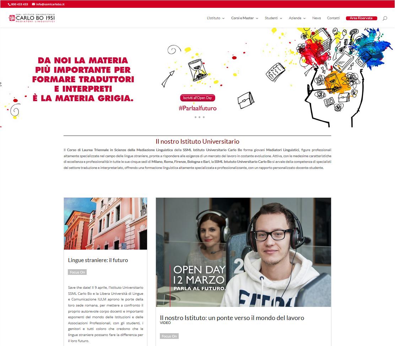 SSML CARLO BO – Redesign sito