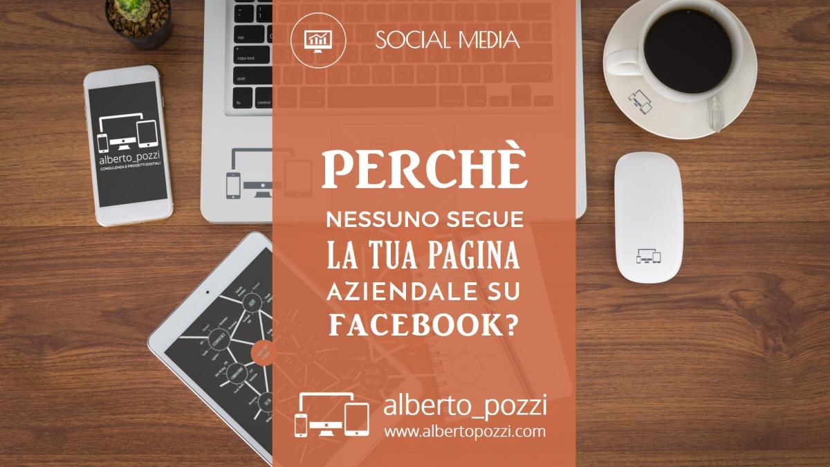 Perche nessuno segue la tua pagina Facebook - Alberto Pozzi
