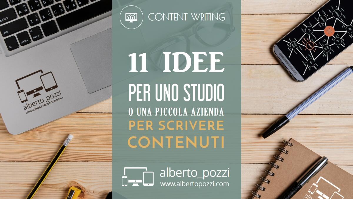 Scrivere contenuti web per uno studio o piccola azienda - Alberto Pozzi