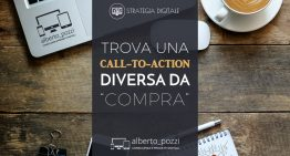 "Trova una call-to-action diversa da ""compra"""