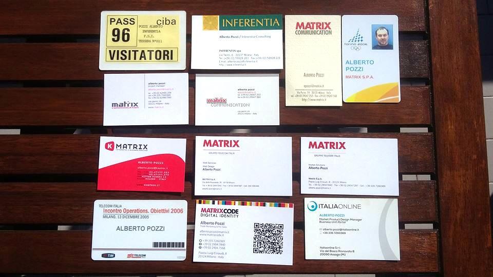 Alberto Pozzi - Biglietti da visita Inferentia, Matrix, Italiaonline