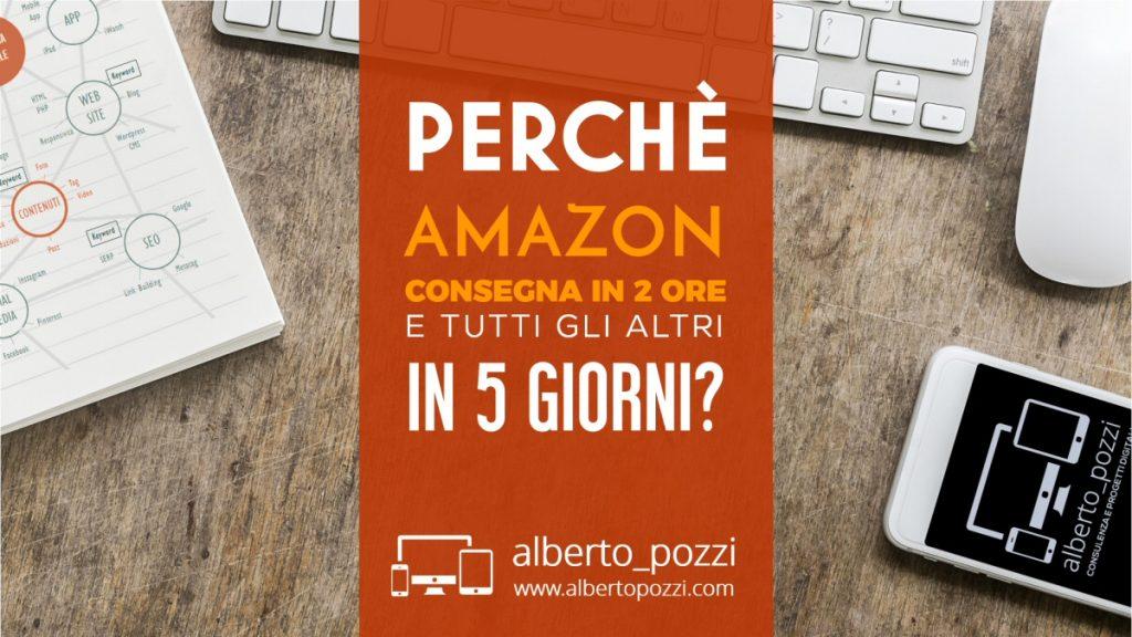 Come fa Amazon a consegnare in 2 ore e tutti gli altri in 3-5 giorni?