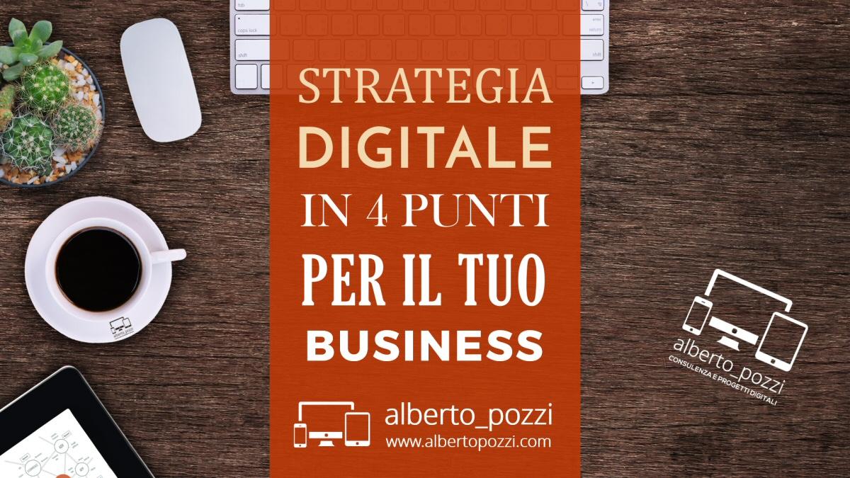 Strategia digitale per la tua azienda in 4 semplici passi