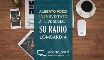 "Intervista a ""Live Social"" su Radio Lombardia"