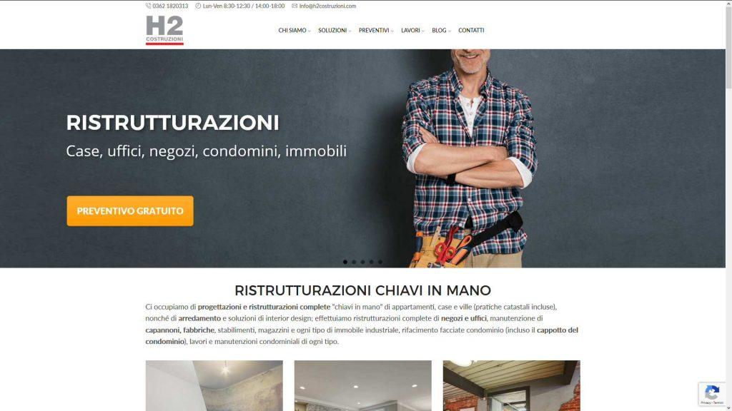 H2 Costruzioni: strategia digitale, contenuti, sito web, SEO