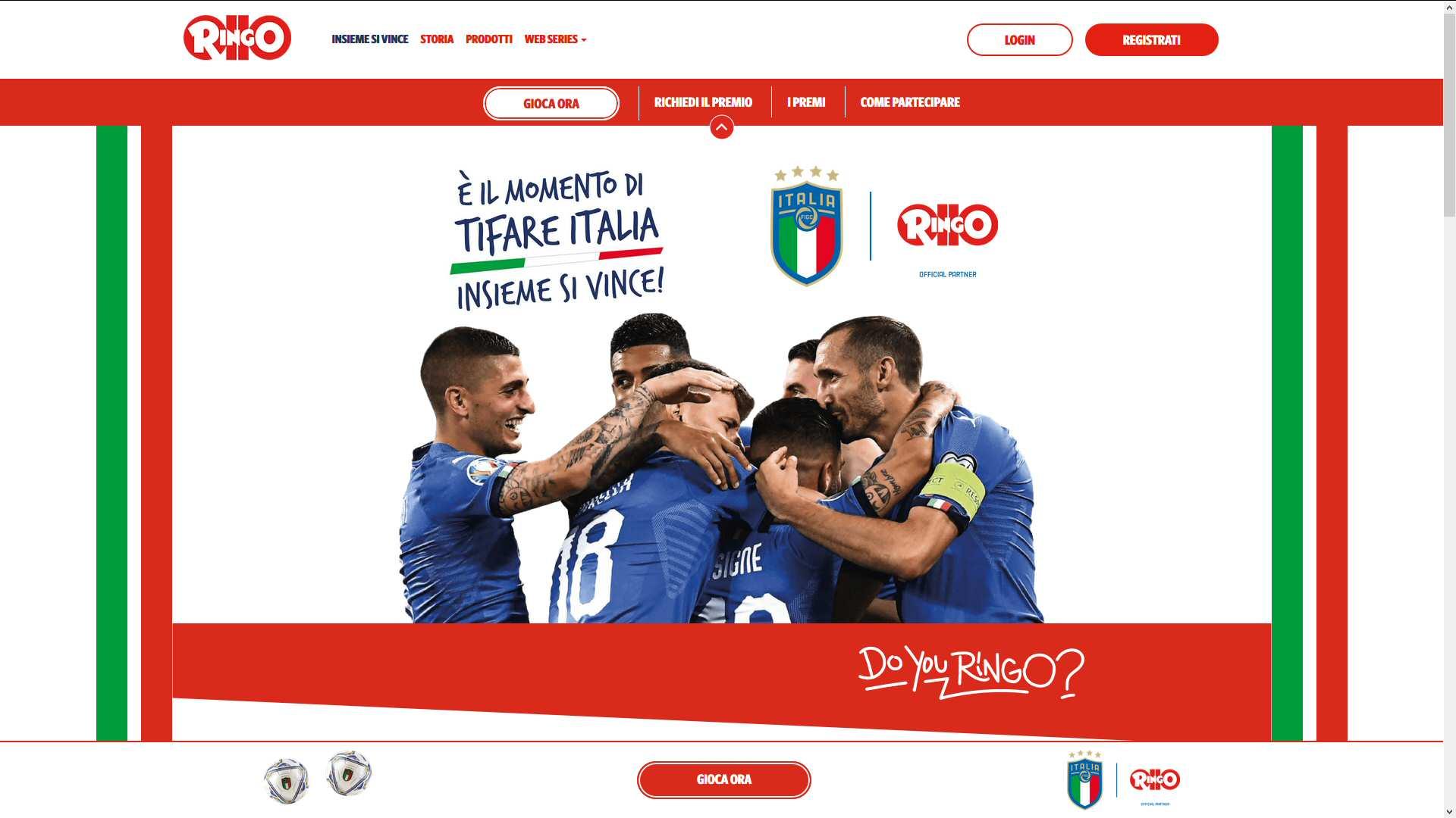 Barilla Pavesi : sito per concorso Ringo - Figc