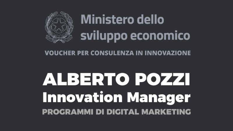 Alberto Pozzi innovation manager