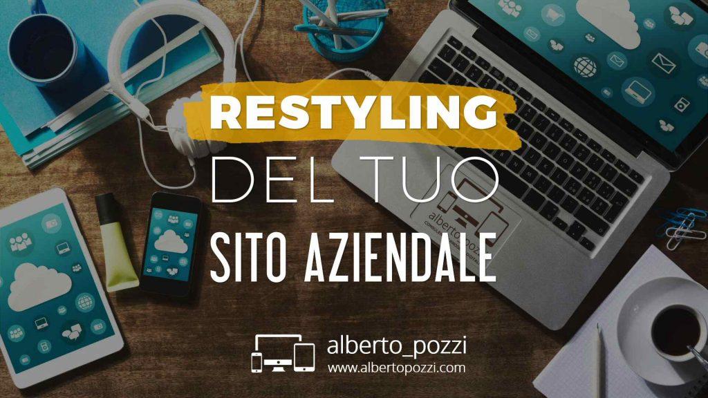 Restyling sito web aziendale: rifare un sito professionale