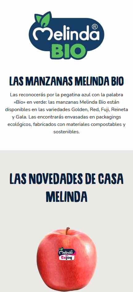 Melinda: landing page spagnola
