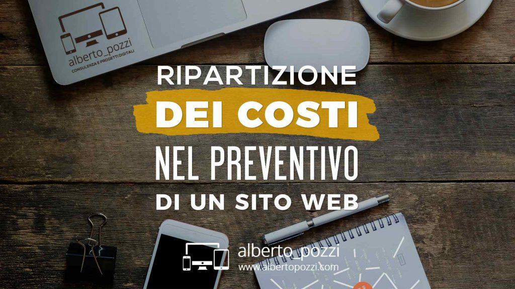 Ripartizione dei costi nel preventivo di un sito web